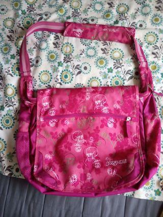 Jansport Messenger Bag (Pink) Waterproof