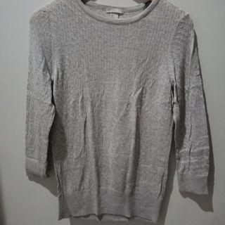 [PL] H&M Grey Tops Shirts Baju