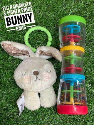 ELC rainmaker & fisher price bunny