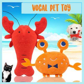 Pet Vocal Soft Toy Cat Dog Toy Crab Lobster Seafood