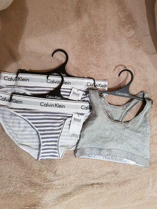 Calvin Klein bikini underwear and bralette