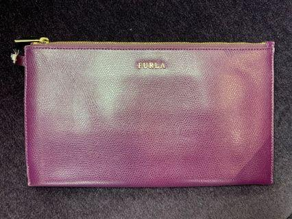 Furla purple pouch with card slots