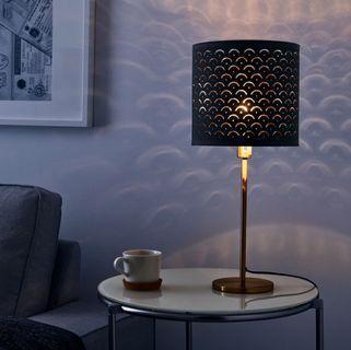 Ikea NYMO lamp shape black 24cm with stand