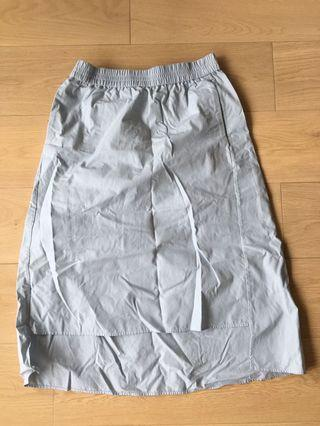 COS casual skyblue stripe skirt
