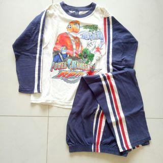 Set Baju Tidur Anak Power Rangers