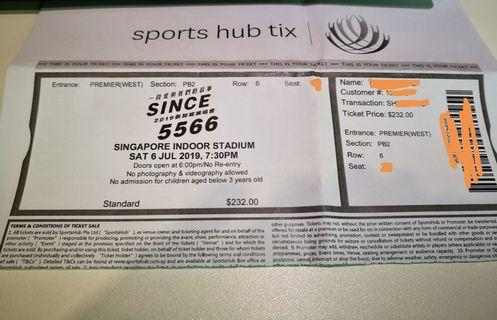 (Sell) SINCE 5566 concert section PB2