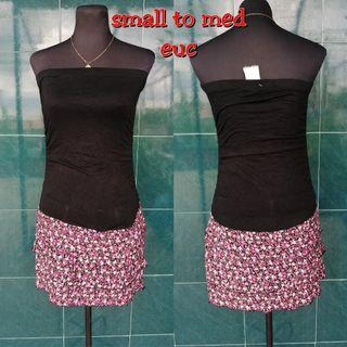 Extra small to small tube long top or mini dress