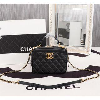 🚚 香奈兒Chanel 高質感大容量菱格手提化妝箱/化妝包