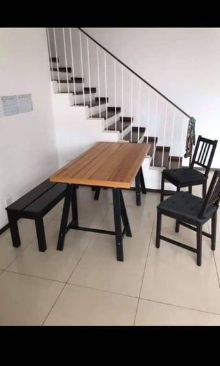 Dining table set ,ful set in 450 rm, all from ikea
