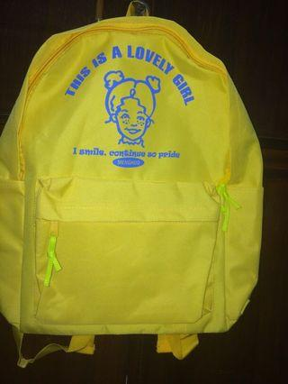 yellow vintage school bag