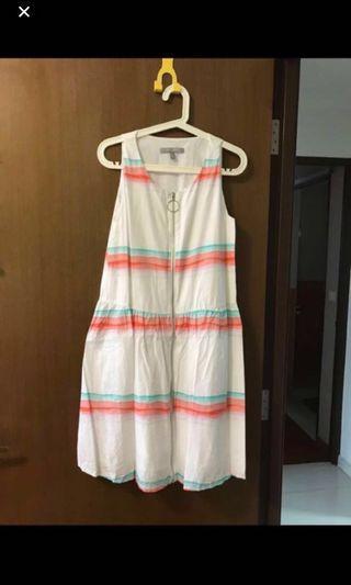 🛍Urban Revivo Pink and blue Striped Dress