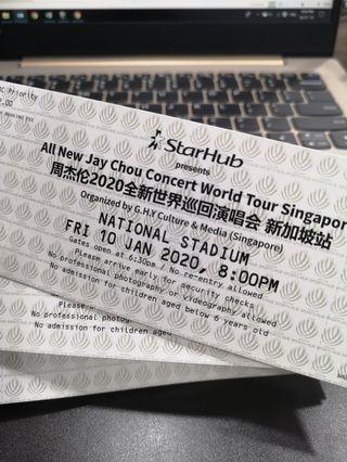 JAY CHOU 2020 CONCERT TICKETS 2 PAIRS