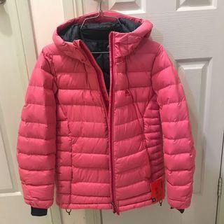 Pink Adidas Down Puffer Jacket