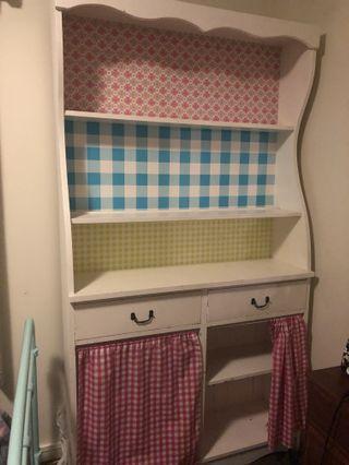 Vintage white shelf