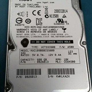 "Sas disk 600 GB 2.5"" : 24 pieces avail"