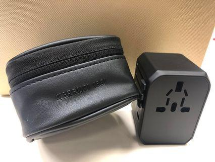 Cerrutti 1881 traveller adapter with Bag