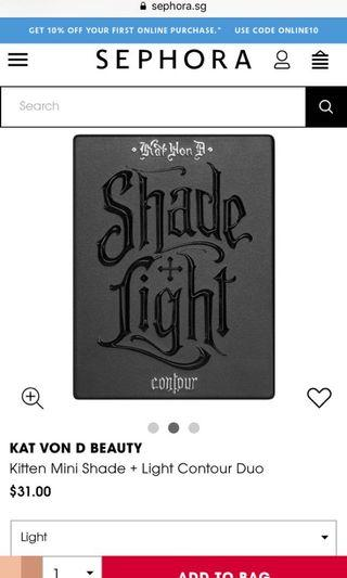 🚚 Kat Von D shade and light contour