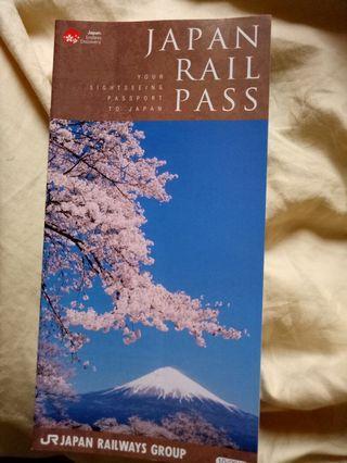 Japan rail pass jr pass explanation book