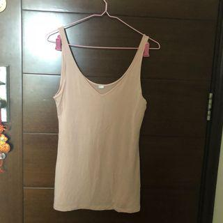 Old navy reversible tank top in pink 兩種著法 粉紅色背心