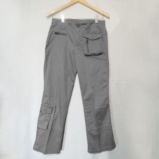 🚚 Esprit 時尚灰色彈性九分工褲