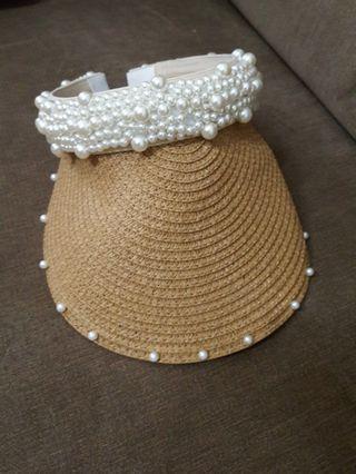 珍珠遮陽帽