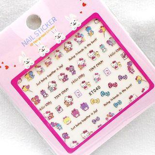 BNIP Sanrio Hello Kitty loves Teddy bear cute children Nail stickers nail art nail decal