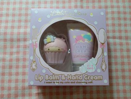 Sanrio lip balm & hand cream(little twins star)