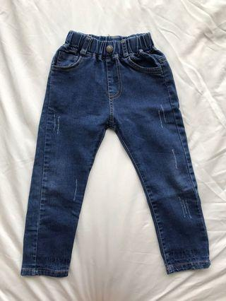 🚚 Boy Jeans (Slim Cut Blue Fashionable)