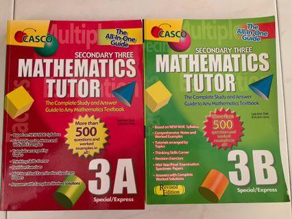 Mathematics tutors assessment book (Sec 3) Part A & B
