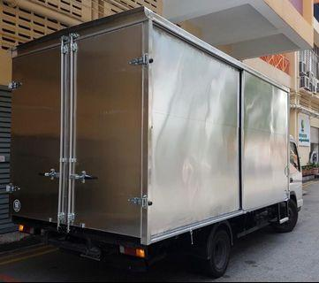 For rent : 14ft box up lorry (Class 3)