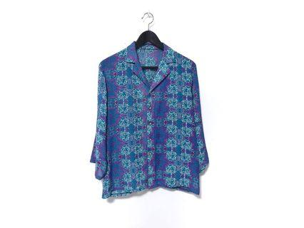 """CERULEAN"" Vintage Abstract Shirt"