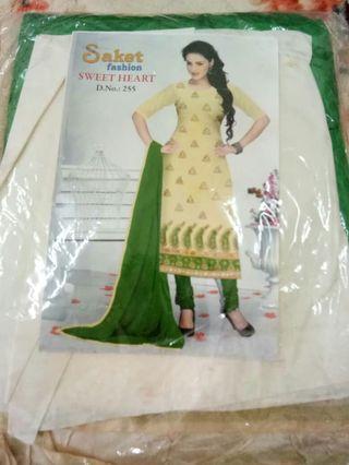 Semi-stitched Saree
