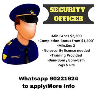 Security Officer Required | July intake open now