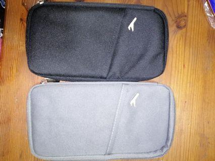 Travelling passport slot card pouch