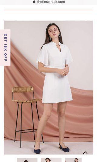 🚚 TTR Ellis Flare Sleeve Dress in White
