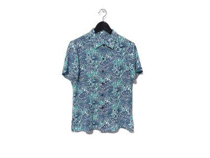"""AQUA"" Vintage Abstract Shirt"