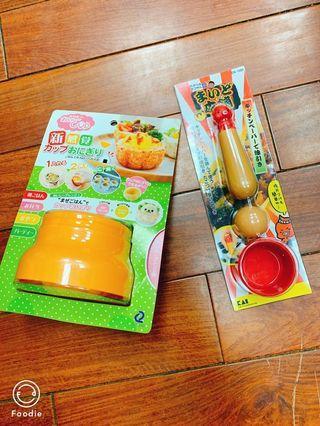 🚚 飯糰造型廚具+章魚燒抹油棒