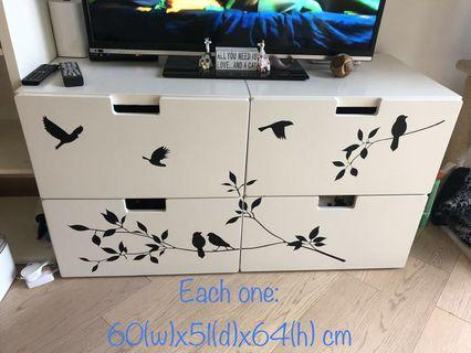 Ikea white drawers (2 set of drawers available)