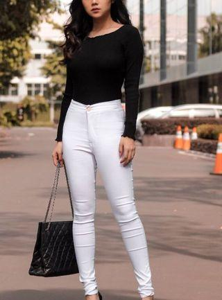 White Jegging Pants