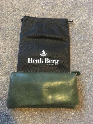 Henk Berg green leather wallet