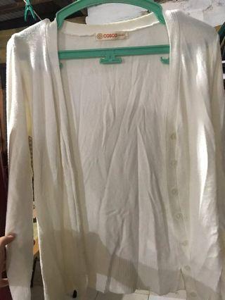 cardigan putih cosco basic