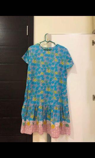 Batik dress selutut baru sekali pakai