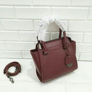 Charles n keith bag maroon