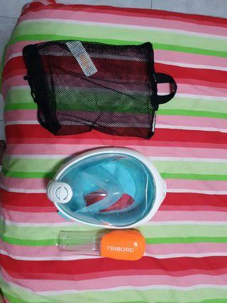 Preloved Decathlon Tribord Easy Snorkel Mask