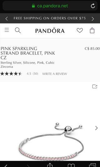 Pink Sparkling Strand Bracelet