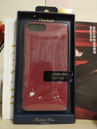 🚚 IPhone7/8 plus🍎手機殼 質感 皮革拼接