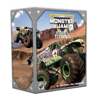 Monster Jam PS4/XBOX TITAN STEEL Collector Edition with 1:24 Gold Grave Digger Limited