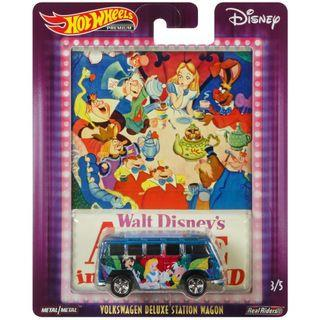 Hotwheels 2019 Walt Disney's Volkswagen Deluxe Station Wagon Alice In Wonderland Pop Culture Rare Hot Wheels