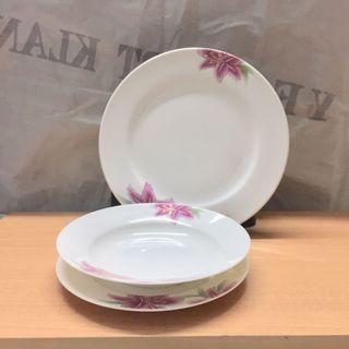 3pcs Porcelain 8-10inch Plate and 8 inch Soup Plate