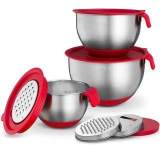 🚚 Mixing Bowl Set 3pcs incl grater and lids